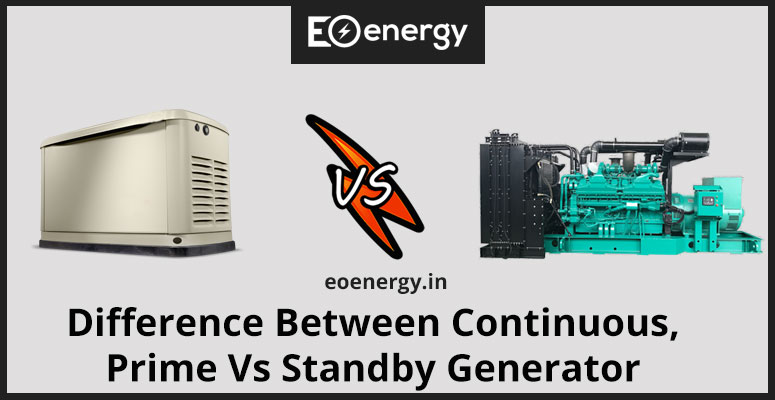 Difference Between Continuous, Prime Vs Standby Generator