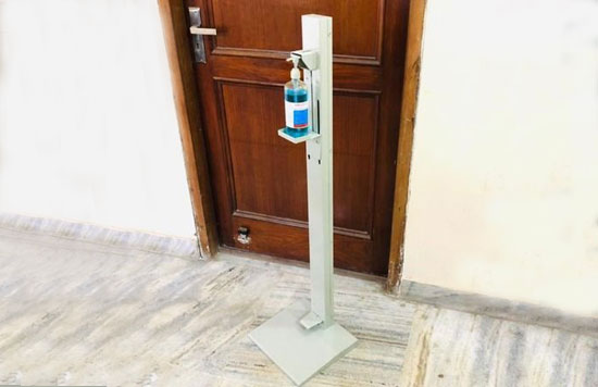 Foot-press-sanitizer-stand