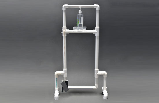 PVC-Foot-operated-hand-sanitizer-stand